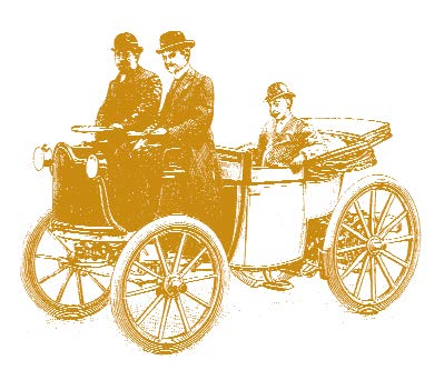 Men driving cart