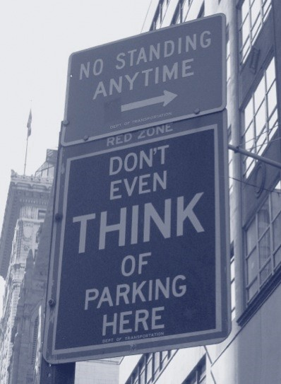 SignDontThinkParking